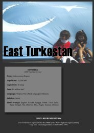 Member Profile East Turkestan, August 20 2009.pub - UNPO