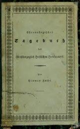 Chronologisches Tagebuch des Grossherzoglich Hessischen ...