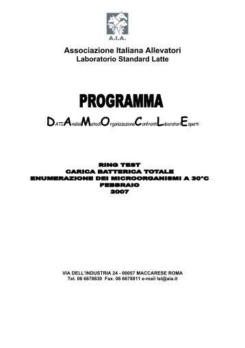 Associazione Italiana Allevatori Laboratorio Standard Latte ...