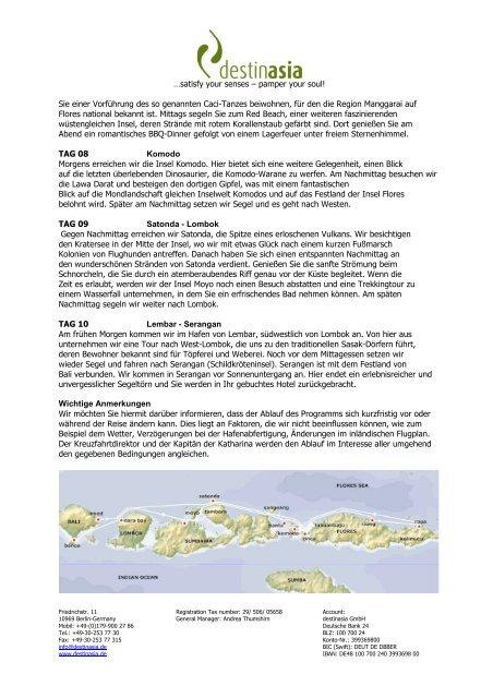 Segelkreuzfahrt Bali – Flores – Bali - Destinasia GmbH