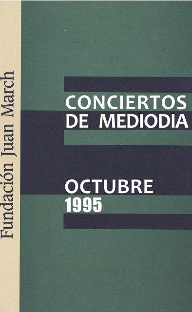 Programa En Pdf Fundación Juan March