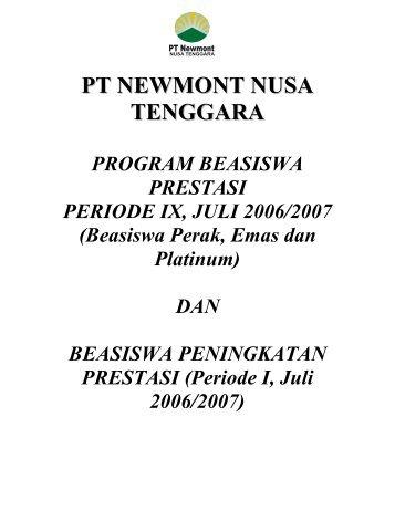 Beasiswa PT Newmont Nusa Tenggara