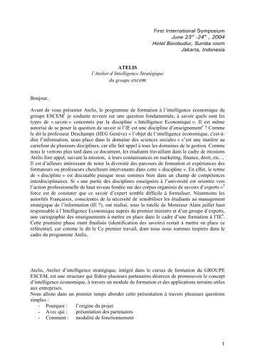 Présentation Atelis – Pierre LARRAT