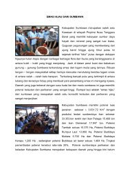 EMAS HIJAU DARI SUMBAWA Kabupaten Sumbawa merupakan ...