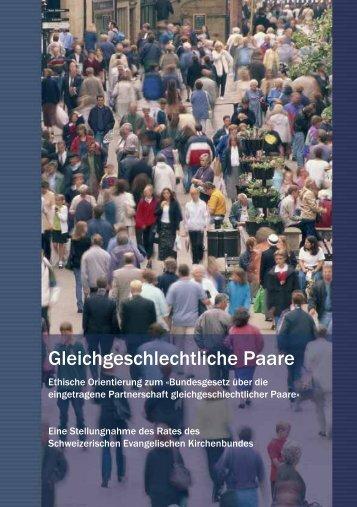 Gleichgeschlechtliche Paare - Schweizerischer Evangelischer ...