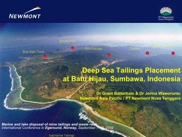 Paparan Umum Proyek Batu Hijau, PT. Newmont Nusa ... - Niva