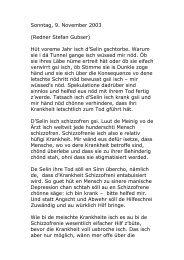 Sonntag, 9. November 2003 (Redner Stefan ... - selinsstiftung.ch