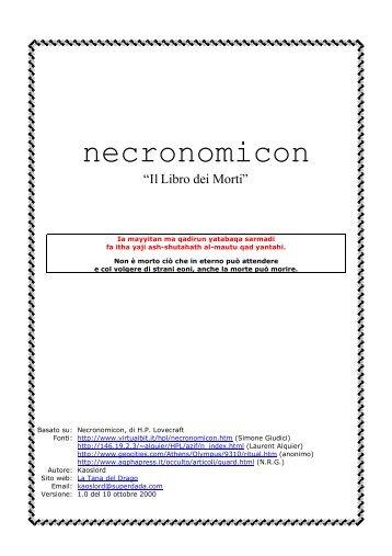 Necronomicon - Il Libro dei Morti - Arcadia93