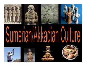 HIST 212 Sumerian-Akkadian Culture