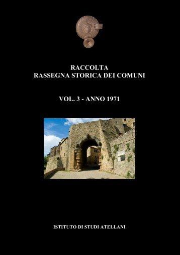 raccolta rassegna storica dei comuni vol. 3 - Istituto studi atellani