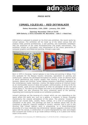 ISMAEL IGLESIAS – RED SKYWALKER - Barcelona - Galeria ADN