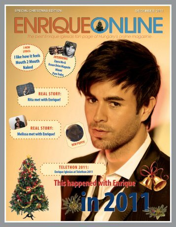 This happened with Enrique - Enrique Iglesias