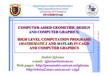 computer-aided geometric design and computer graphics - OCW ...
