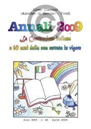 Annali Classico 2009 - Liceo Classico Amedeo di Savoia