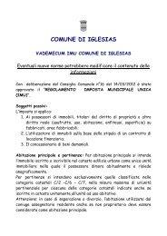 Vademecum IMU ( Imposta Municipale Unica) - Comune di Iglesias
