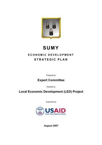 sumy economic development strategic plan - Local Investment and ...