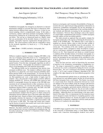 DISCRETIZING STOCHASTIC TRACTOGRAPHY: A FAST ...