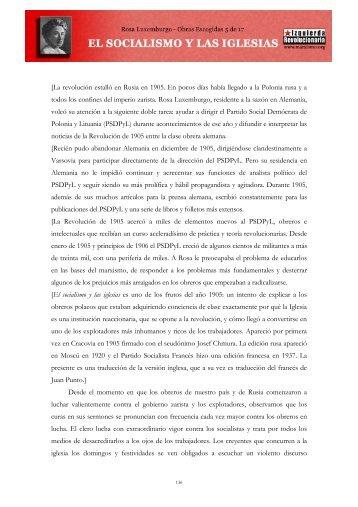 Rosa Luxemburgo - El socialismo y las iglesias