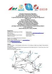 Ukrainian Orienteering Federation Sumy Region Orienteering ...