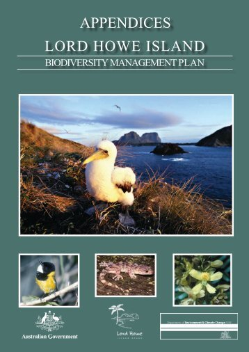 Lord Howe Island Biodiversity management plan - appendices (PDF