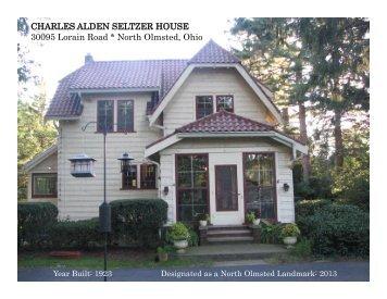 CHARLES ALDEN SELTZER HOUSE 30095 Lorain ... - E-Gov Link
