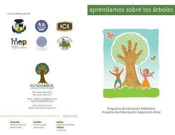 Manual Aprendamos sobre los árboles - Fundación Adopta Un Árbol