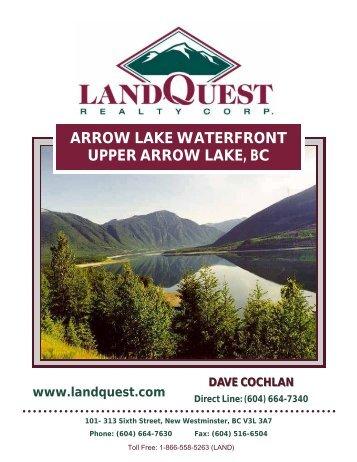 Waterfront Property On Arrow Lake Bc