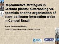 Reproductive strategies in Cerrado plants: outcrossing vs ... - Fapesp