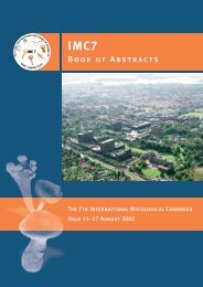 Book of Abstracts (PDF) - International Mycological Association