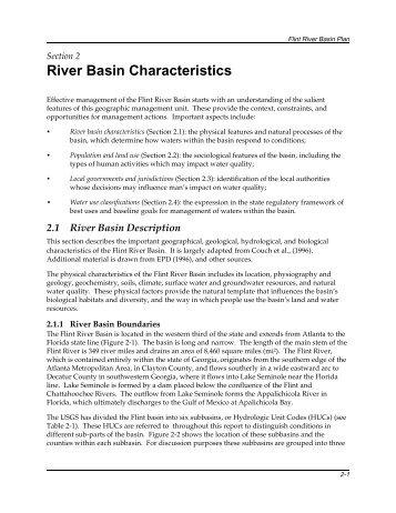 River Basin Characteristics - Georgia Environmental Protection ...