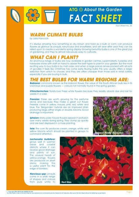 Fact Sheet About The Garden Magazine
