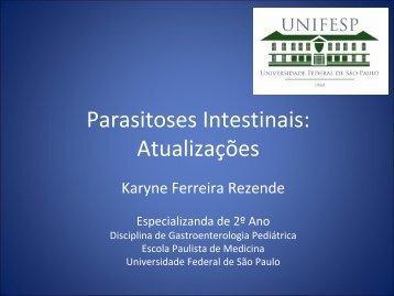 Parasitoses Intestinais: Atualizações