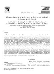 Characteristics of an active vent in the fore-arc basin of the Sunda ...