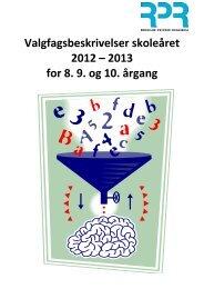 Valgfagsfolder - Roskilde private Realskole - SkoleIntra