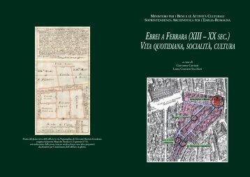 ebrei a ferrara (xiii – xx sec.) - Soprintendenza archivistica per l ...