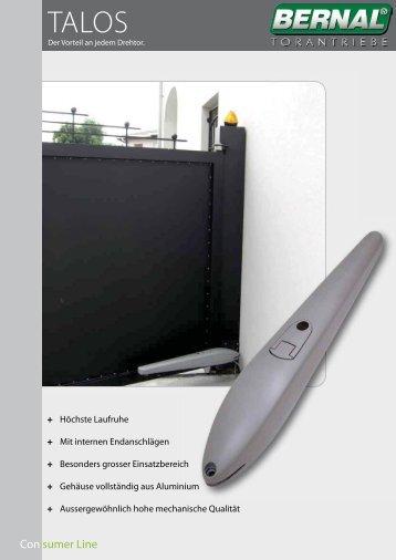 Con sumer Line - Schober Torantriebe GmbH