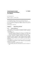 Contrat-type de travail de l'économie domestique (CTT ... - Seco