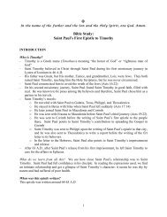 1 Timothy - Bible Study and Notes - Saint George & Saint Joseph ...