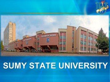Sumy State University presentation