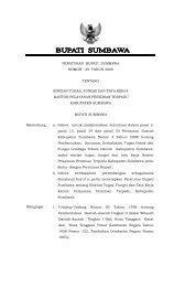 RANCANGAN - Pemerintah Kabupaten Sumbawa