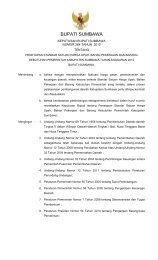 BUPATI SUMBAWA - Pemerintah Kabupaten Sumbawa
