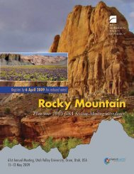 Rocky Mountain Rocky Mountain - Geological Society of America