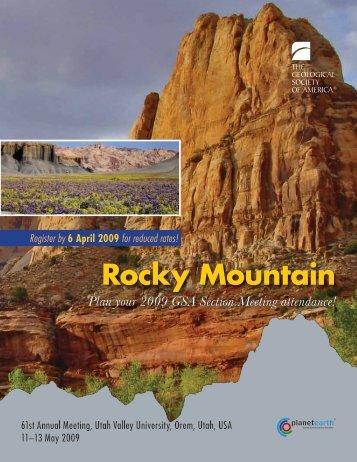 Rocky Mountain Rocky Mountain - Geological Society of America