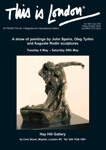 A show of paintings by John Speirs, Oleg Tyrkin and Auguste Rodin ...