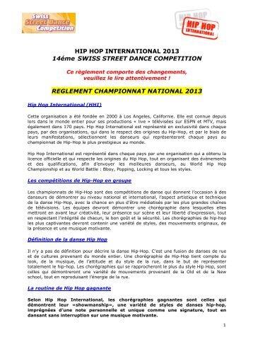 HIP HOP INTERNATIONAL 2013 14éme SWISS STREET DANCE ...