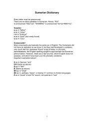 Sumerian Dictionary - Tikaboo