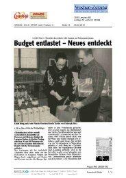 25. Februar Wochenzeitung Emmental - Tischlein deck dich