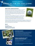 HoRAN ALL FoR oNE GoLF CLASSIC - Xavier University - Page 2