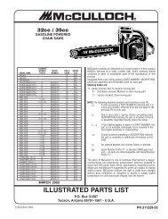 McCulloch MAC CAT 2 3ci (38cc) Parts List 223344-01