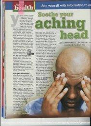 reDon't suffer in silence - the - The Headache Clinic